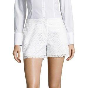 Rafaella white lace shorts